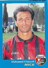 N°273 MOHAMED CHAOUCH # MAROC OGC.NICE VIGNETTE PANINI FOOTBALL 96 STICKER 1996