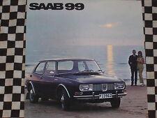 catalogue brochure SAAB 99 1968 / COULEURS / SUEDE SWEDISH