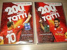 OPERA COMPLETA IN 2 OFFICIAL DVD 200 VOLTE FRANCESCO TOTTI AS ROMA CALCIO GOAL