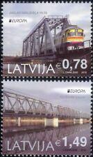 Letonia 2018 trenes/Locomotoras/Carril/Puentes de Ferrocarril/transporte 2v Set (lv1002)