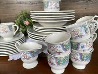 33 PC Set Japan Mikasa Provincial VILLA MEDICI CV900 Dinner Plate Cup Soup Bowl
