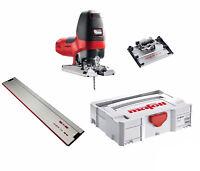 Mafell P1cc MaxiMax GB 240V Pendulum Jigsaw | Tilting Plate | F80 Guide Rail Kit