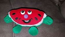 "Gazelle Fruit Watermelon Plush 6"" Stuffed Animal Toy Red Green Smiling Food"