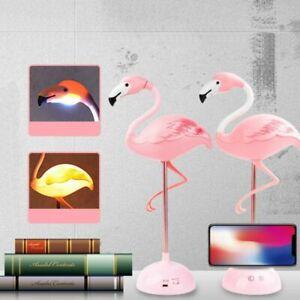 Flamingo Touch Sensor USB LED Desk Table Night Reading Lamp Light Rechargeable