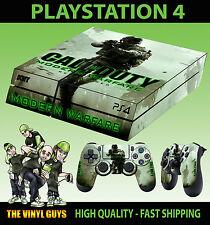 Ps4 Pelle Call of Duty Modern Warfare 02 cod Adesivo + 2 X Pad Decalcomania In Vinile Lay