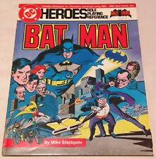 DC Heroes Batman role playing game reference Mayfair Games 1985 Comics