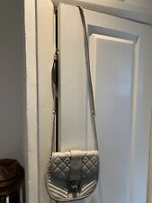 Michael Kors Grey Quilted Leather Crossbody Bag Vguc
