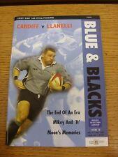 10/05/2002 Rugby: Cardiff V di programma ufficiale (l' oggetto è stato