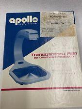Apollo Audio VisualTransparency Film For Overhead Projection