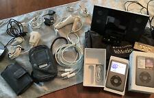Apple iPod Classic 6th Gen Black (160 Gb) Bundle Speaker Dock- Fully Functional