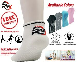 Yoga Socks Ballet Sports Gym Non-Slip Cotton Pilates Exercise Grips Unisex UK