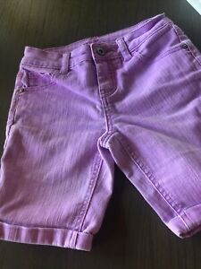 justice 💜 purple bermuda stretch shirts sz 10R