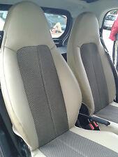 1+1 Autositzbezüge, Passt auf SMART FORTWO 1998-2007 (450) Sitze, BEIGE-SCHWARZ