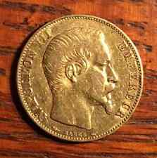 1854 France Gold Coin 20 Francs Napoleon III Emperor