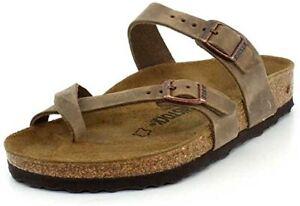 Birkenstock Women Mayari Tobacco Leather Birko-Flor w/ EVA Sole Sandal US 6-6.5