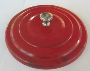 Original Store Counter Top Red Lance Jar Lid With Chrome Final