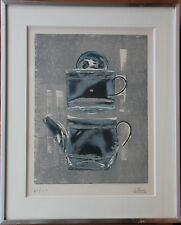 Gravure etching lithographie lithograph S/N CESAR BALDACCINI cafetière 1970 *