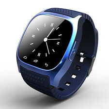 Blue Bluetooth Smart Wrist Watch Phone Mate For IOS Android iPhone Samsung HTC