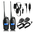 2* TYT TH-UV8000D Dual Band Handheld Two-Way Radio Walkie Talkies+Program cable