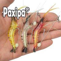 3x Soft Plastics Fishing Lures Tackle Prawn Shrimp Flathead Bream Cod Bass Baits