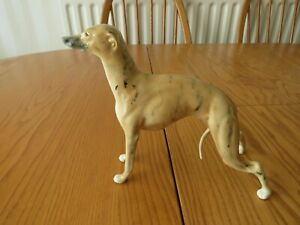 China Figure Of A Standing Greyhound ~ Brown Brindle