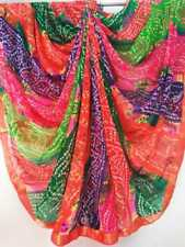 Synthetic Multi Print Causal Partywear Indian Saree Women Traditional Clothing