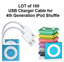 Lot of 100   USB Data Sync & Charger Cable Cord for Apple iPod Shuffle 4th Gen