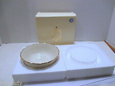 "Lenox Rosebud Collection Cereal Bowl 4.5"", 24 K. Gold Trim c. 1980 New in Box"