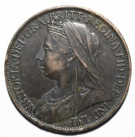 1899 United Kingdom (UK) One 1 Penny - Victoria 3rd portrait - Lot 695