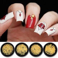Tira de metal artesanías de uñas palo Trenzado 3D Arte en Uñas Decoración Bling dorada Hazlo tú mismo