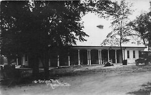 H46/ Rushville Illinois RPPC Postcard c1910 Scripps Park Pavilion Building
