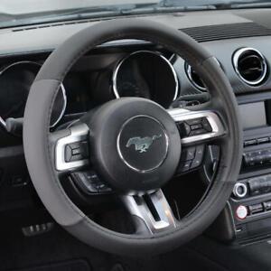 "Gray Black Car Steering Wheel Cover For Van SUV Truck Auto 15"""