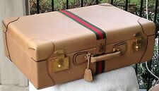 "Rarest of the rare –50's-early 60's GUCCI calfskin suitcase (8.5""x17""x26"") Italy"