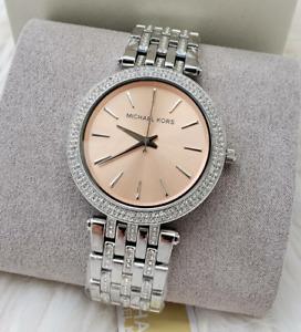 Michael Kors Women's Darci Three Hand Stainless Steel Watch MK3218
