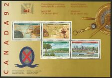 Canada 1407a MNH Map, Architecture, Train, Boat, Seal