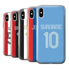 PERSONALISED CUSTOM NAME FOOTBALL JERSEY SHIRT PHONE CASE FOR IPHONE GEL COVER