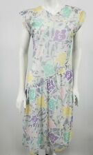 VTG 80s Deadstock Contempo Casuals Dress Size 7 Pastel Floral Drop Waist