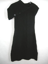 Wool Sweater Dress Cowl Oversized Cable Knit Collar Black Gap Woman's S Warm