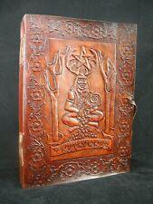 Horned God Cernunnos - Large Handmade Leather Journal Wicca Book of Shadows