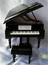Fabulous Polished Ebony Grand Piano Dollhouse Miniature by Heidi Ott FAST SHIP