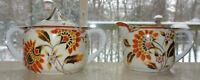 Vintage Noritake Morimura Orange Flowers Sugar Bowl and Creamer