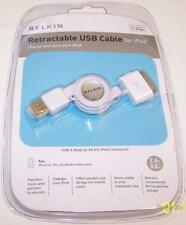 BELKIN Retractable 30-pin Charge Data Sync USB Cable for iPhone Touch Nano iPod