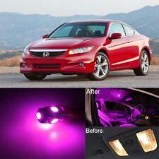 14Pcs Pink LED Lights Interior Package Kit For 2003-2012 Honda Accord Sedan MD