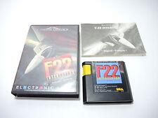 F22 INTERCEPTOR complete in box with manual Sega Mega Drive PAL videogame