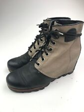 SOREL 1964 Premium Wedge Bluff Leather Canvas Waterproof Boot Sz 10