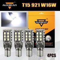 4X AUXBEAM 921 LED Reverse Light 912 T15 W16W 15-SMD Backup Bulb Super Bright