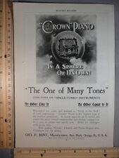 Rare Original VTG Vose, Crown Pianos & Regina, Olympia Music Boxes Ad Art Print