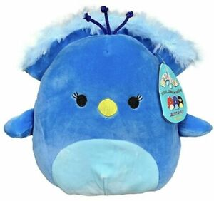 Squishmallows Super Soft Plush Toy Blue Cuddly 40cm Priscilla Peacock Squishy
