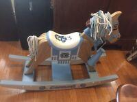 Rare  North Carolina Tar Heels Danbury Mint Full Size Kid Rocking Horse Exc Cond