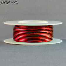 Magnet Wire 18 Gauge AWG Enameled Copper 25 Feet Coil Winding and Crafts Red